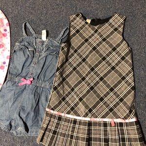 Girls 4T Lot Dress Romper Pajamas